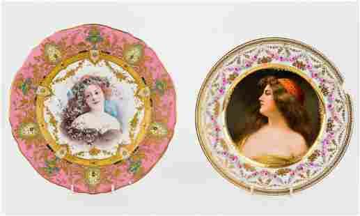 Sevres Portrait Plates (2)