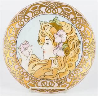 Unique Signed Art Nouveau Charger