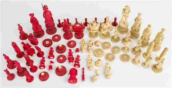 19th Century European Chess Set
