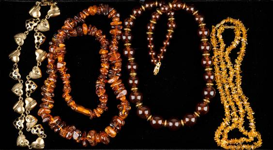 Amber and Costume Necklaces