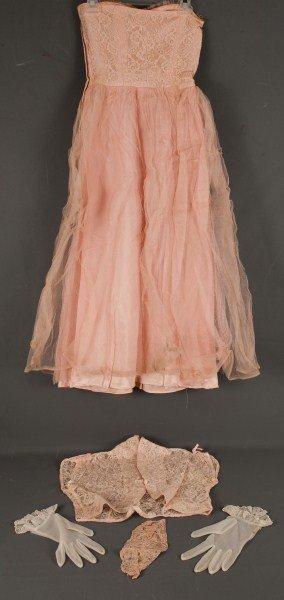 3: Vintage Wedding Clothing-Wedding dress ca 1950