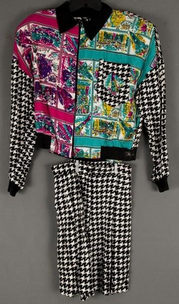 """7: Vintage Clothing-Faith sequins jacket and skirt """"New"""