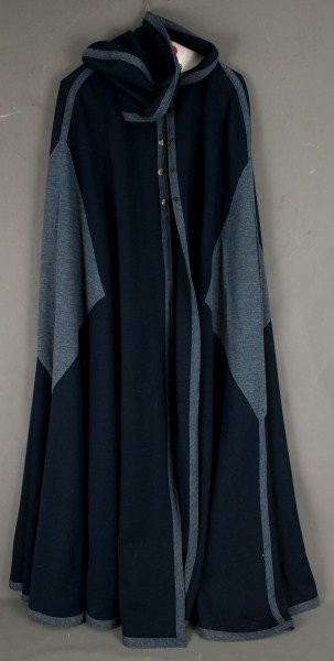 12: Vintage Clothing-a blue cape and another jacket,