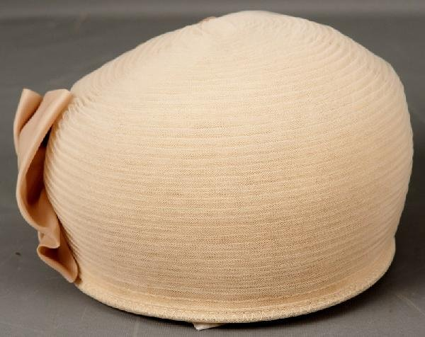 21: Vintage Hat-Beige vintage net hat