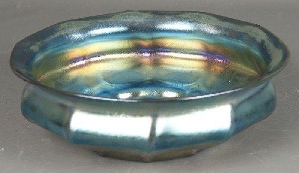 """147: Tiffany Favrile Art Glass 9 1/2"""" di bowl"""