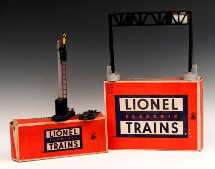 7: Lionel Train Operating Signal Bridge