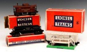 9: Lionel Train Cars