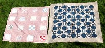 159: Two Early 20th C Patch Work Quilts