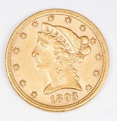 647: 1893 Quarter Eagle, Gold Eagle
