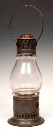 11: Tin and Glass Whale Oil Lantern