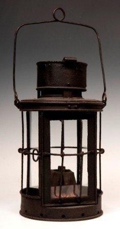 15: Mid 1800's iron Lard Lantern