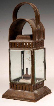 17: Bevel Glass Oil Lantern