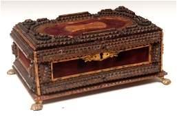 436 Tramp Art  Dresser Box