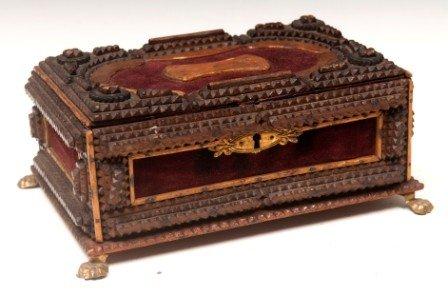 436: Tramp Art  Dresser Box