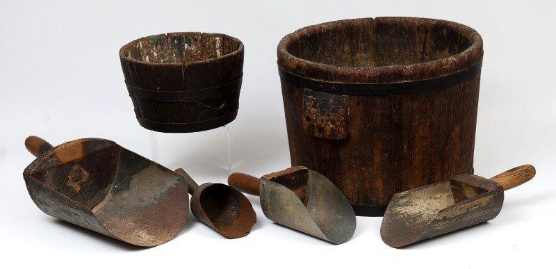5: Primitive Wooden Buckets