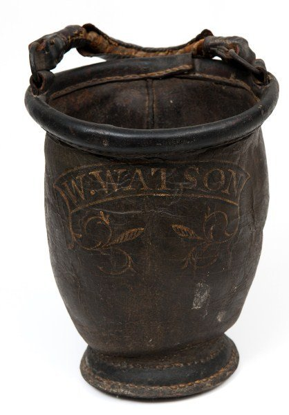 18: 19th C Leather Fire Bucket