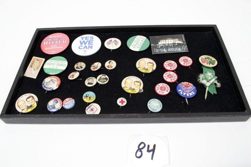 84: Kellogg Pep Pins and Political Pins