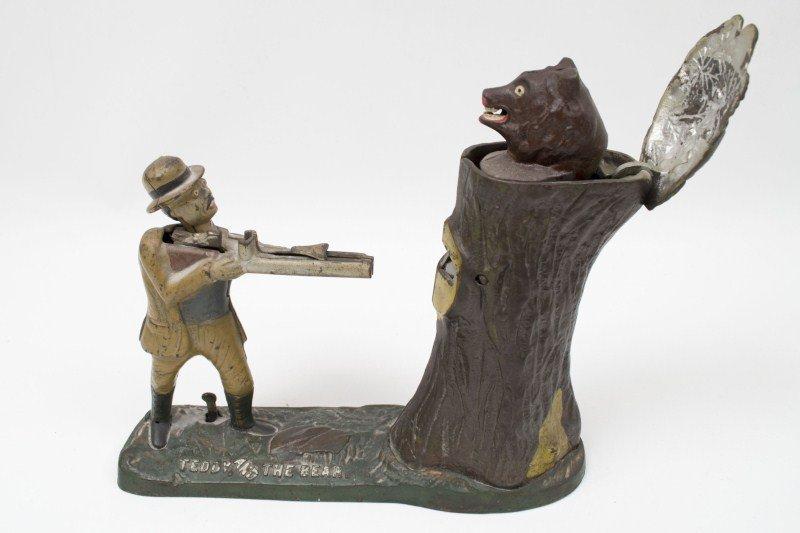 86: Vintage Teddy & Bear Mechanical Bank