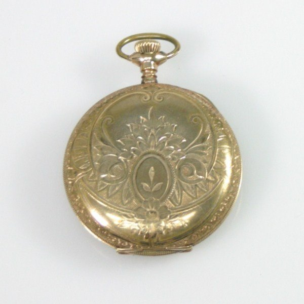 465: Elgin Gold Colored Pocket Watch - 2