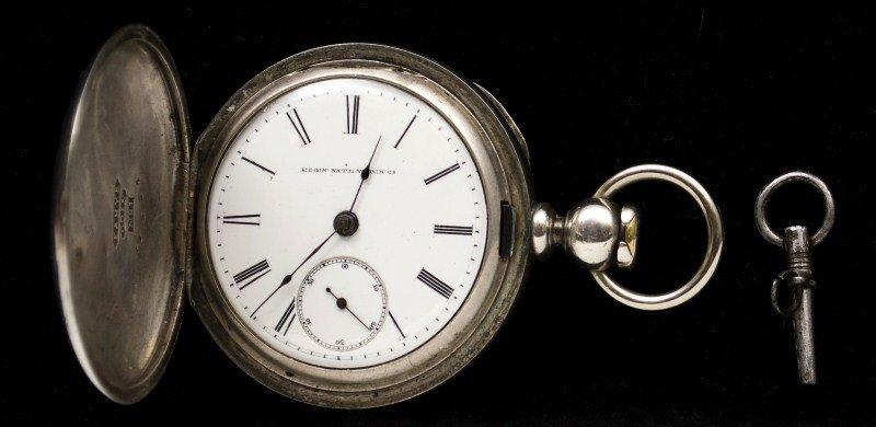 492: 1911 Elgin Coin Silver Pocket Watch