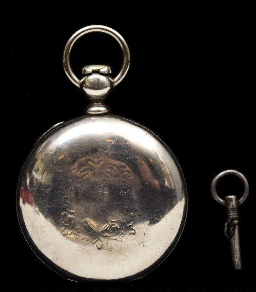 492: 1911 Elgin Coin Silver Pocket Watch - 2