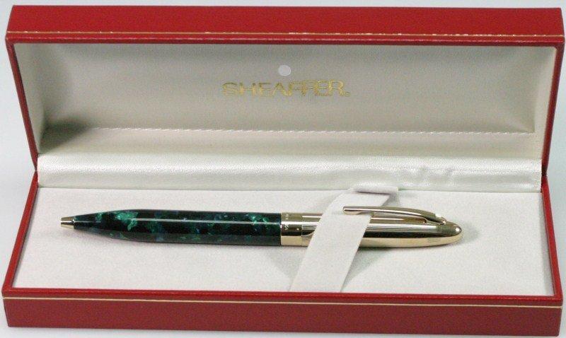 470E: Sheaffer White Dot Ball Point Pen with Gold Elect - 2