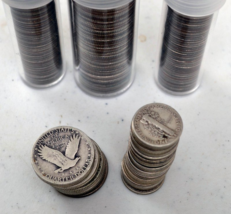 738: Silver Dimes and Quarters