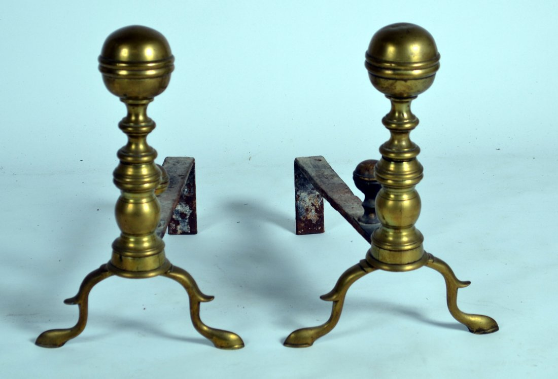 358A: 18th/Early 19th C Andirons