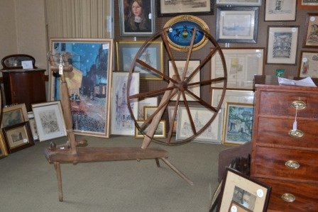 375A: 18th/19th C Spinning Wheel