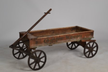 384A: 19th C Wagon with Stenciling