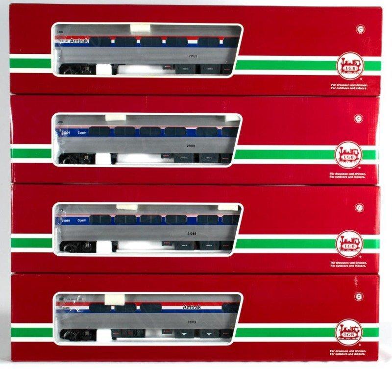 6: Four LGB Amtrak Passenger Cars