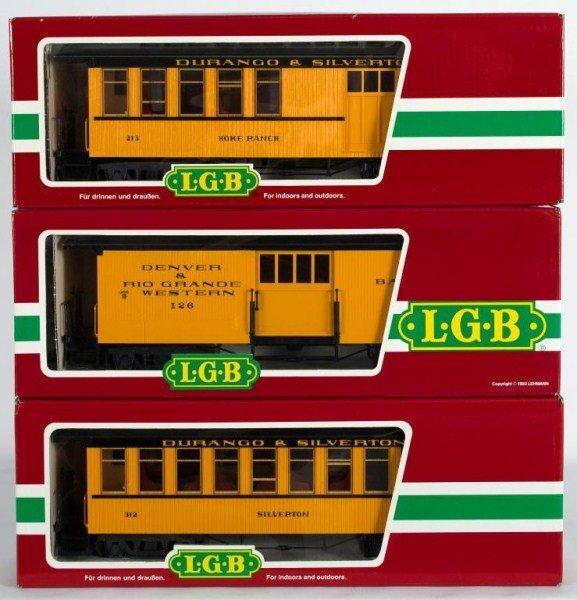 9: Three LGB Durango & Silverton Cars