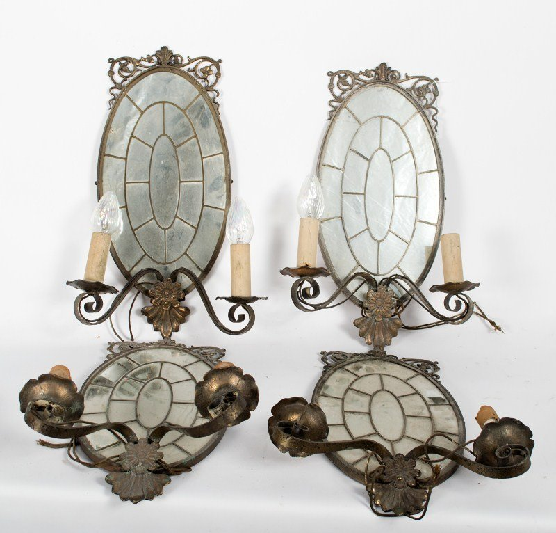 346: Mirrored Lamp Wall Sconces