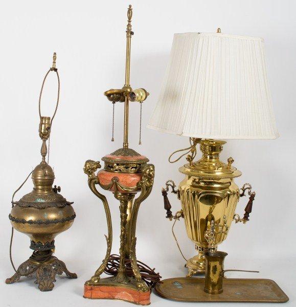 347: Brass Decorative Lamps