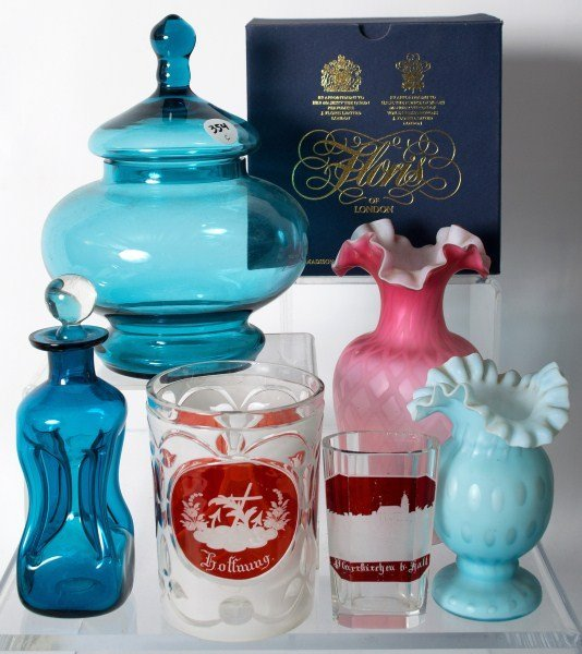 354: Satin and Bohemian Glass