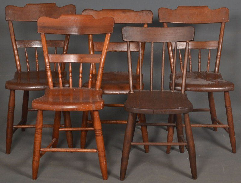 Antique Plank Bottom Chairs