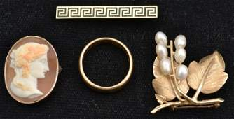 Assortment of Gold Jewelry