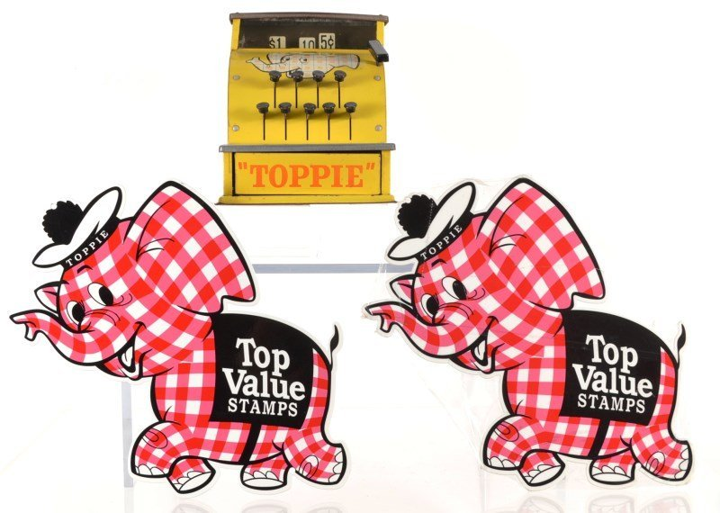 Toppie Cash Register & Wall Plaques