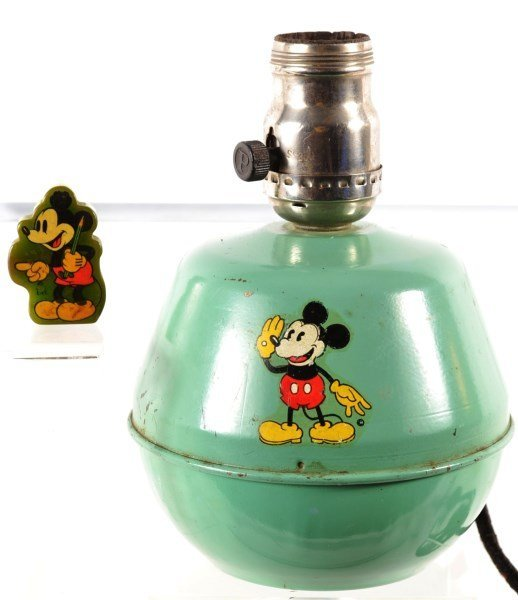 Mickey Mouse Lamp & Pencil Sharpener – 1930's