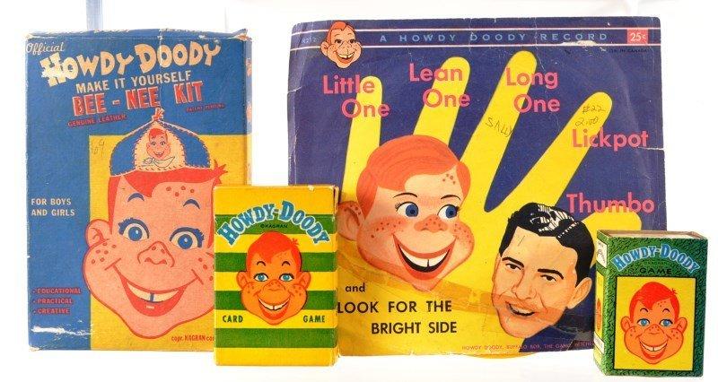 Howdy Doody Entertainment Lot -1950's