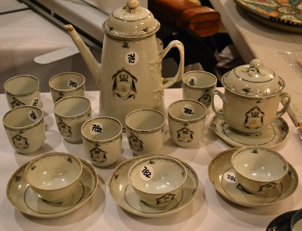 18thC Chinese Export Partial Tea Service