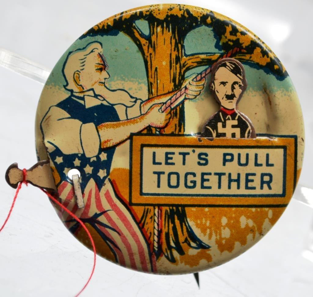 World War II Uncle Sam Hanging Hitler Mechanical B