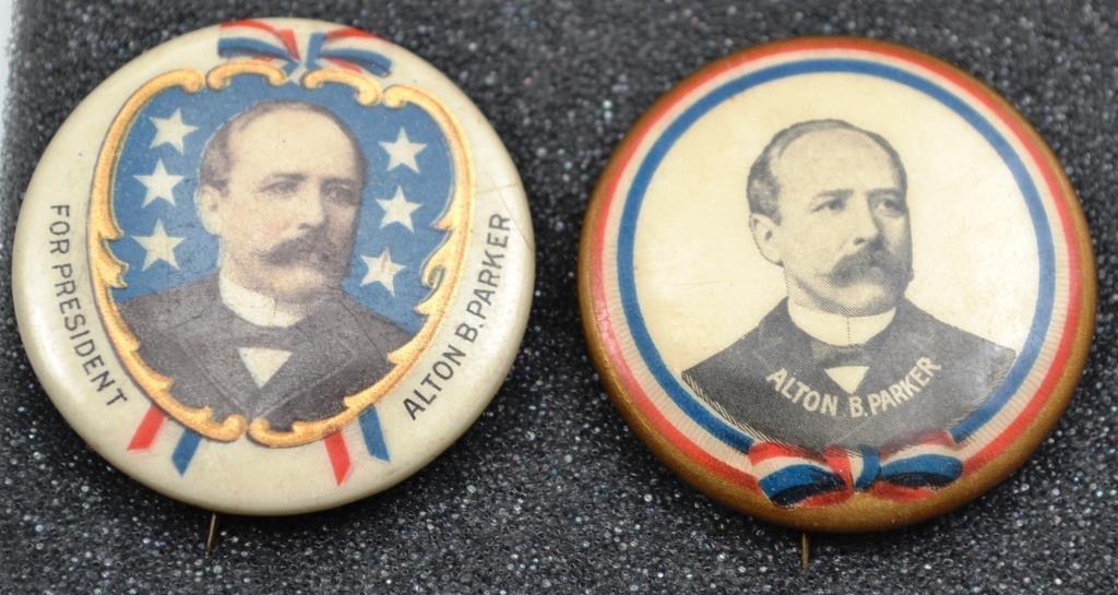 Alton B Parker Pair of 1904 Campaign Buttons