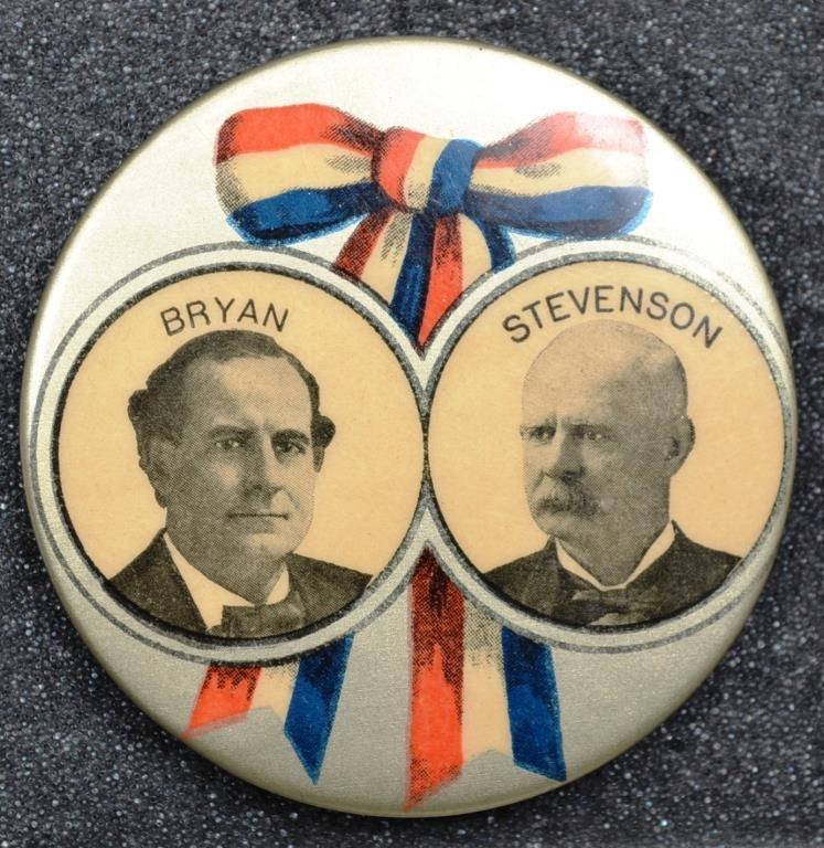 """Bryan/Stevenson†Large And Scarce 1900 Jugate Cam"