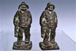 Pair of Bronze Gloucester Fisherman Bookends