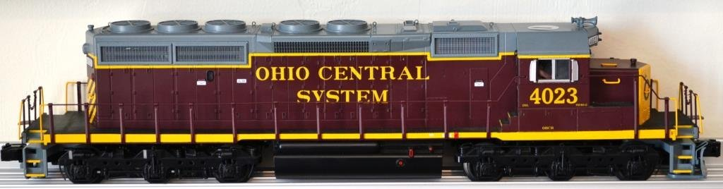 O Scale MTH SD 40–2 diesel locomotive Ohio Central