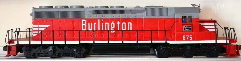 O Scale Weaver SD 40–2 diesel locomotive Burlingto