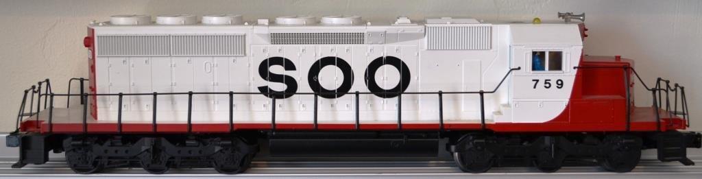 O Scale Weaver S and D 40–2 diesel locomotive SOO