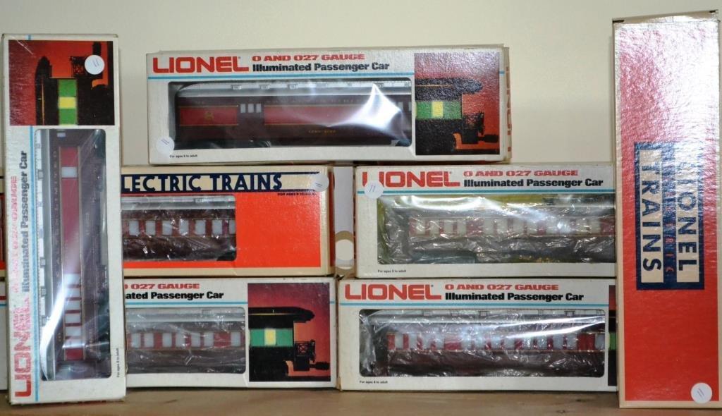 O Scale Seven Lionel Chicago Alton cars including