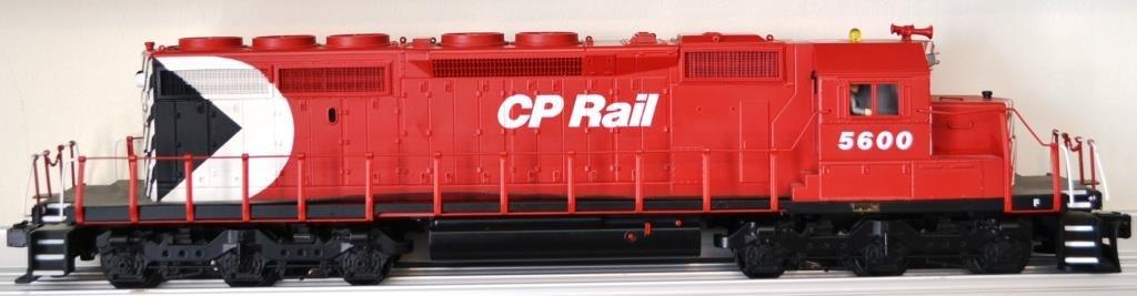 O Scale MTH SD 40–2 diesel locomotive CP Rail man